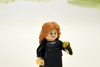 Adele Lego minifigure created by Bloom Design