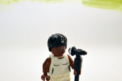 Aretha Franklin Lego minifigure created by Bloom Design