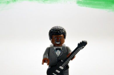 B.B. King Lego minifigure created by Bloom Design