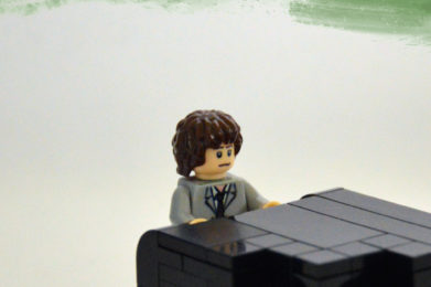 Billy Joel Lego minifigure created by Bloom Design