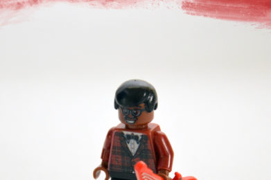 Bo Diddley Lego minifigure created by Bloom Design
