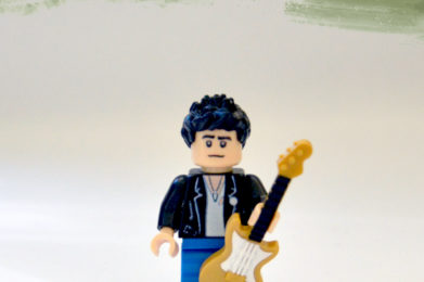 Bruce Springsteen Lego minifigure created by Bloom Design