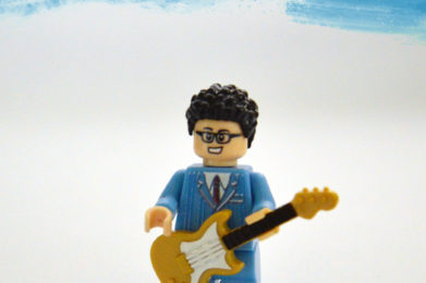 Buddy Holly Lego minifigure created by Bloom Design