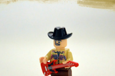 Carlos Santana Lego minifigure created by Bloom Design