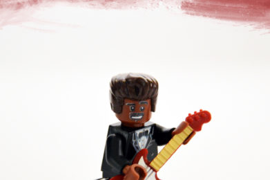 Chuck Berry Lego minifigure created by Bloom Design