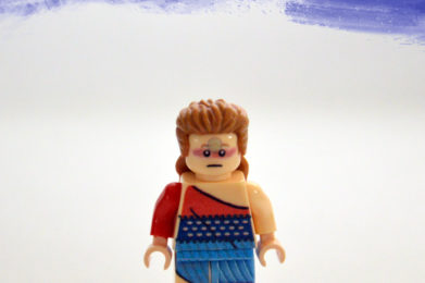 David Bowie Lego minifigure created by Bloom Design