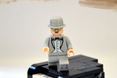 Elton John Lego minifigure created by Bloom Design