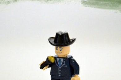 Frank Sinatra Lego minifigure created by Bloom Design