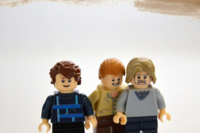 Genesis Lego minifigure created by Bloom Design, Phil Collins, Mike Rutherford, Tony Banks