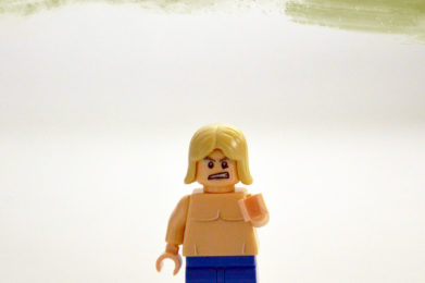 Iggy Pop Lego minifigure created by Bloom Design