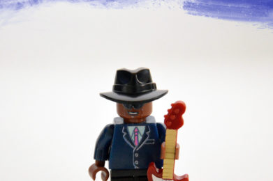 John Lee Hooker Lego minifigure created by Bloom Design