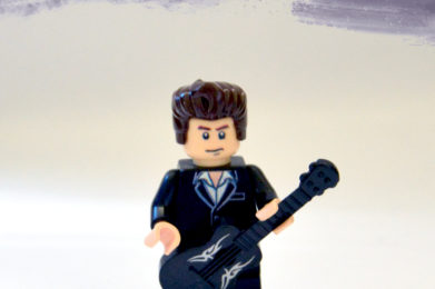 Johnny Cash Lego minifigure created by Bloom Design