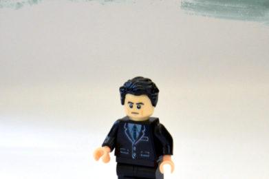 Leonard Cohen Lego minifigure created by Bloom Design
