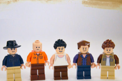 Midnight Oil Lego minifigure created by Bloom Design, Peter Garrett, Jim Moginie, Rob Hirst, Bones Hillman, Martin Rotsey