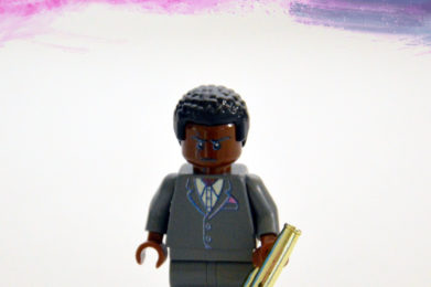 Miles Davis Lego minifigure created by Bloom Design