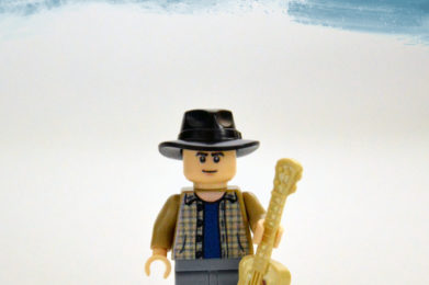 Neil Young Lego minifigure created by Bloom Design