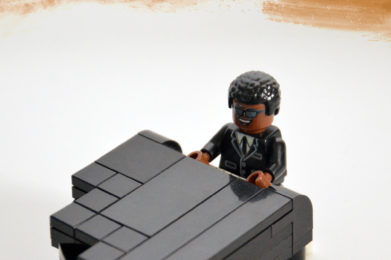 Ray Charles Lego minifigure created by Bloom Design