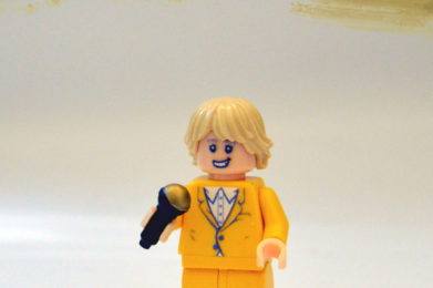 Rod Stewart Lego minifigure created by Bloom Design