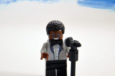Smokey Robinson Lego minifigure created by Bloom Design