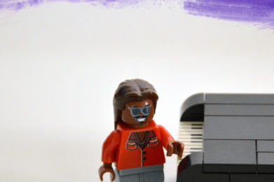 Stevie Wonder Lego minifigure created by Bloom Design