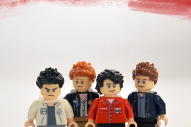 The Clash Lego minifigure created by Bloom Design, Joe Strummer, Mick Jones, Paul Simonon, Topper Headon