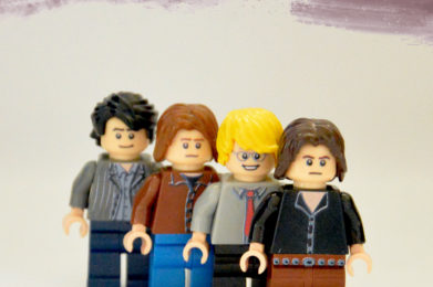 The Doors Lego minifigure created by Bloom Design, Jim Morrison, Phil Manzarek, John Densmore, Robbie Krieger