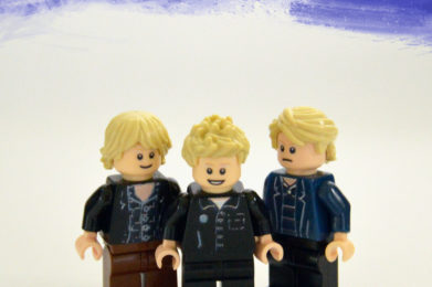 The Police Lego minifigure created by Bloom Design, Sting, Stewart Copeland, Andy Summers