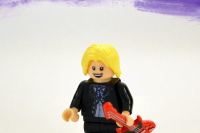 Tom Petty Lego minifigure created by Bloom Design