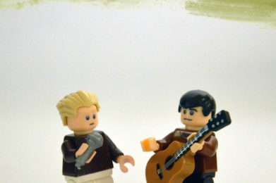 Simon and Garfunkel Lego minifigure created by Bloom Design, Paul Simon, Art Garfunkel