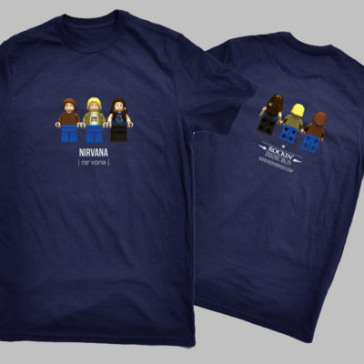 t-shirt nirvana rockin' bricks