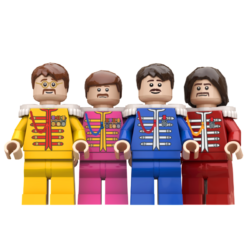 The Beatles Lego© Minifigures