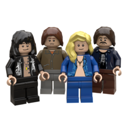 Led Zeppelin Lego© Minifigures